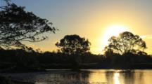 Sunset Over Pond