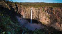 Wallaman Falls Time Lapse 3,Shadow Running Down (Tallest Australian Waterfall)