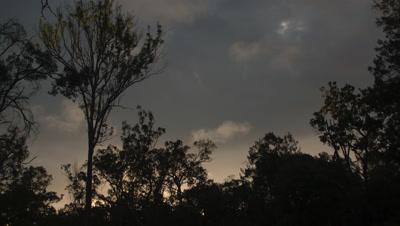 Dusk clouds Time Lapse