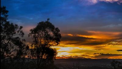 Sunset, urban TIME LAPSE