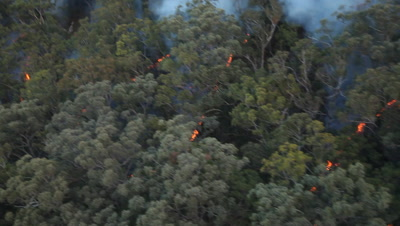 Bushfire Burning Aerial