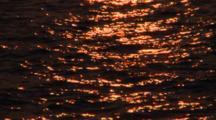 Sea Water Surface At Sunset, South Ari Atoll, The Maldives
