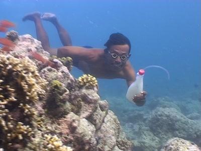 Cyanide Fisherman Spraying Reef