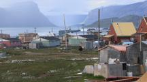 Hiking In Pangnirtung On Baffin Island; Fiord In Background