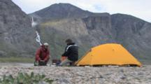 Camping In Auyuittuq National Park, Arctic Circle, Baffin Island