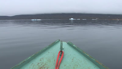 View From Bow Of Freighter Canoe, Near Qikitarjuaq, Baffin Island