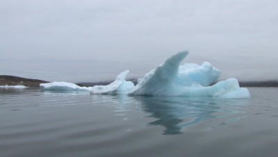 Ice Chunks On Ocean, Qikitarjuaq, Baffin Island