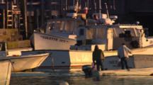 Vinalhaven Lobstermen Leave For Work In Carver's Harbor, Vinalhaven, Maine