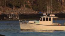 Lobster Boat Leaves Carver's Harbor, Vinalhaven, Maine