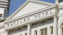 Singapore Famous Raffles Hotel Luxury Resort In Front One Of The Worlds Great Hotels