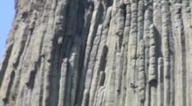 Detailed View Of Basalt Columns That Make Up Devils Tower - Devils Tower National Monument, Wyoming