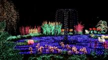 WA, Bellevue, Bellevue Botanical Garden, Holiday Lights