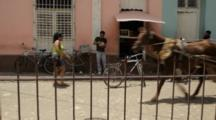 Horse Drawn Cart On Streets Of Trinidad