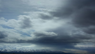Clouds over White Mountain Range,Nevada