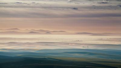 Rolling hills and farm land,Washington State