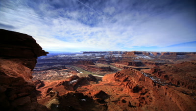 POV reveal of Canyonlands NP Utah