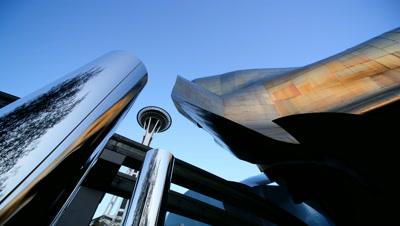 Space Needle,Low Angle,Seattle,WA