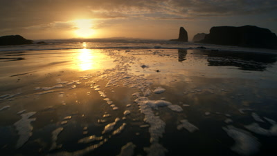 Beach at Sunset,Oregon Coast,Bandon