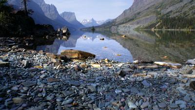 Lake and mountains,Glacier NP,MT