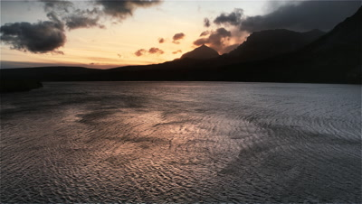 Wind patterns on mountain lake,Lake ST. Mary,Glacier,NP,MT