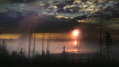 Dawn at Yellowstone NP,WY