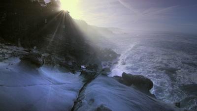 Waves crashing on California Coast,Salt Point State Park,CA