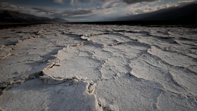 Dry cracked earth in Salt Flats,Death Valley,NP,CA