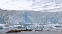 Antarctica Glacier And Floating Sea Ice