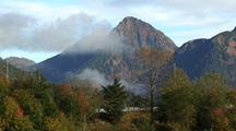 Mountain Scenery, Fall Colors & Drifting Fog.