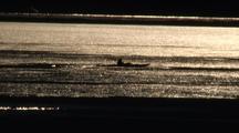 A Sea Kayak Navigates Through Building Sea Ice.