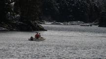 Snow Storm (Two People In A Skiff)