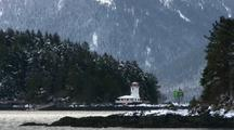 Winter Scene: Snow And Lighthouse