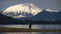 Fly Fishing Near Mt. Edgecumbe Volcano