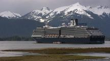 Cruise Ship Moored In Alaska