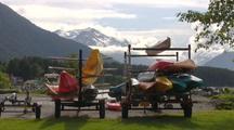 Kayaks In Storage