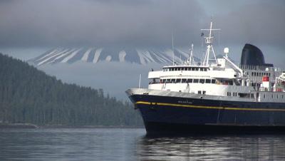 Alaska Ferry & Mt. Edgecumbe Volcano