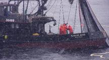 Commercial Fishing Boats ( Purse Seiners In A Snow Storm)