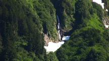 Waterfall In Temperate Rainforest