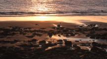 Abstract Sandy & Rocky Beach