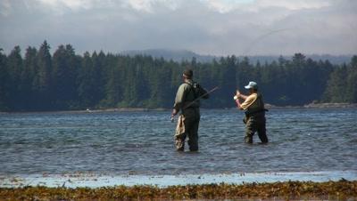Men Fly Fishing