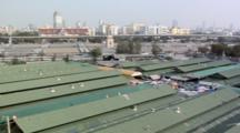 Above The Rooftops Of The Chatuchak Weekend Market In Mo Chit, Bangkok