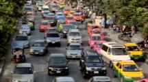 Afternoon Traffic Besides The Chatuchak Market On Kamphaeng Phet, Bangkok