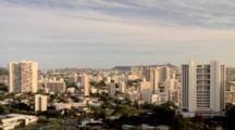 Elevated View Of Honolulu Towards Diamond Head, Hawaii