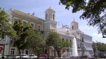 Fountain And The San Juan City Hall (Casa Alcaldia) At Plaza De Armas