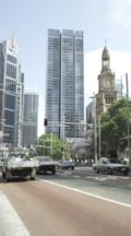Sydney Town Hall And Traffic On George Street