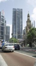 Sydney Town Hall And Traffic On George Street