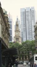 Sydney Town Hall And Traffic On York Street