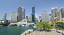 Skyline Of The Sydney CBD And Circular Quay Ferry Terminal