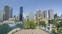 Skyline Of The Sydney CBD And Circular Quay Ferry Terminal
