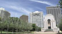 Apartment Buildings Framing Hyde Park With Anzac Memorial